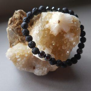 Lava Bead & Hematite Diffuser Bracelet